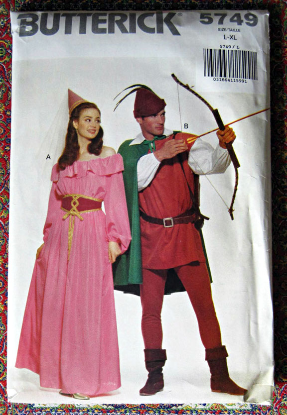 sc 1 st  Pugcentric Pursuits Needlework Patterns & Butterick 5749 Robin Hood Maid Marian medieval costume pattern