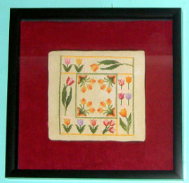 tulip cross stitch picture