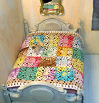 miniature patchwork crochet bedspread Pugcentric Pursuits