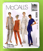 photo of McCalls 8838 Misses pants top and big shirt sewing pattern