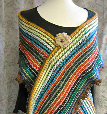 Stashbuster wrap with double-ended crochet