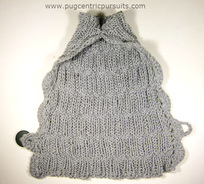 Original design for knit dog cape sweater at Pugcentric Pursuits needlework blog